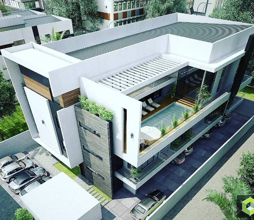 4 UNITS OF BEAUTIFUL TERRACES + ROOFTOP SWIMMING POOL FOR SALE IN BANANA ISLAND